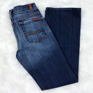 7 For All Mankind Bootcut Medium Blue Jeans